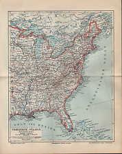 Landkarte map 1895: Vereinigte Staaten von Amerika Östliches Blatt - USA