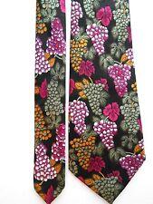 "Designer Tie Mens Necktie Grapes Vintner Winemaker by Fratello 59"" x 4"""