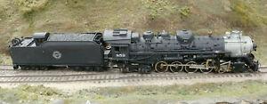 Brass HO CGW/Chicago Great Western 2-10-4 #859 Custom-Built Lima/Baldwin Steamer