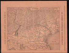 WWI Map Carte Suisse Swiss Austria Italy Adriatic Sea Venezia 1917 ILLUSTRATION