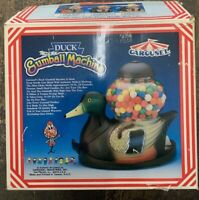 Vintage Carousel Mallard Duck Gumball Candy Coin Dispenser Machine - Brown