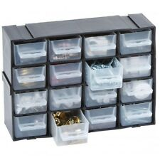 16 Multi Drawer STACKING / STACKABLE Storage Unit Screw Nail Craft Organiser