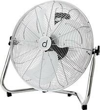 """Andrew James 18"""" High Velocity Floor Fan Chrome Finish Portable Air Cooling"""