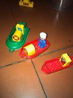 Lego Duplo Fischer Boot Schiff 3 Boote 1 Figur 2 Rettungsringe 2 Fische NP:100€