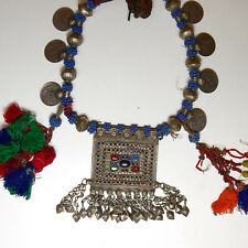 Belly Dance ATS Tribal Metal Dangles NECKLACE Kuchi Afghani 812b2