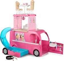 Barbie Pop-Up Camper Van Transforming Vehicle With Accessories UK FREE POST NEW