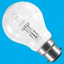 2x 70W (=100W) Clear Dimmable Halogen GLS Energy Saving Light Bulbs BC B22 Lamp