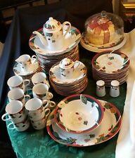 Tienshan Magnolia Fine China Serving For 12 Dinnerware Set 69 Pieces !