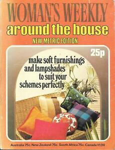 Woman's weekly around the house soft furnishings lampshades vintage 1975 metric