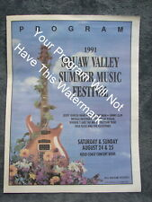 1991 Squaw Valley Music Fest Program w Picture Jerry Garcia of The Grateful Dead