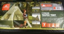 NEW 7 PERSON INSTANT TEEPEE FAMILY CAMPING LARGE TENT OZARK TRAIL 12' x 12' BASE