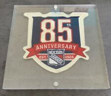 2010 2011 New York Rangers 85th Anniversary Jersey NHL Patch Season Ticket - NYR