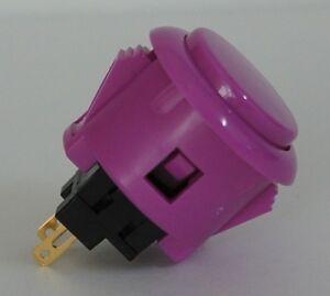Japan Sanwa Violet Start Buttons x 1 pc OBSF-24-VI Video Arcade Parts