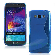 Custodia WAVE BLU per Samsung Galaxy Grand 3 G720 Max G7200 cover flessibile TPU