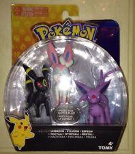 Tomy Pokemon Eevee Evolutions 3 Figure Set *Umbreon, Espeon, Sylveon* NEW