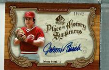 Johnny Bench auto 19/42, 2006 SP Legendary Cuts, Cincinnati Reds