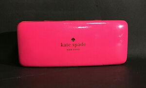 KATE SPADE EYEGLASS SUNGLASSES HARD SHELL CASE PINK ORANGE EYEGLASSES GLASSES