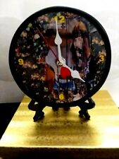 "Led Zeppelin - John Bonham - -5"" Quartz Desk Clock - With Red Heart Second Hand"