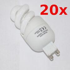 20x Sparlampe Leuchtmittel ESL Spirale 5W G9 Tageslicht-Weiß Daylight Lampe