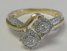 VINTAGE  10 K GOLD LADY'S  DIAMOND ( 0.30CT T.W.)RING, SIZE 7,25