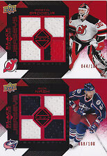 08-09 Black Diamond Rick Nash /100 RUBY Quad Jersey Blue Jackets 2008
