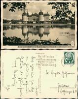Ansichtskarte Moritzburg Kgl. Jagdschloss Stimmungsbild 1932 Walter Hahn:7757