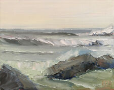 PACIFIC SPRING ONE Original Expression Seascape Oil Painting 8x10 041820 KEN