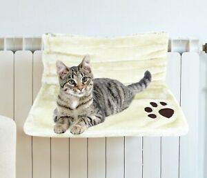 Cat Kitten Hanging Radiator Warm Fleece Basket Cradle Hammock Plush Pet Dog Bed