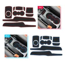 For Ford Fiesta MK VI 2008-2015 Gate slot mats Accessories,3D Rubber Mat 8pcs