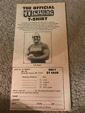 Vintage 1983 HULK HOGAN PRO WRESTLING ILLUSTRATED SHIRT Print Ad 1980s AWA WWF