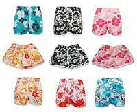 Womens Ladies Girls Summer Floral Flower Print Beach Board Shorts Hot Pants