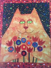 """CAROLEE POLLACK """"FAT CAT"""" PIECED APPLIQUE QUILT WALL HANGING PATTERN UC FF"""