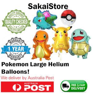 Pokemon Go Party Balloons Helium Theme Birthday Kids Fun Pikachu Squirtle