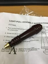 MAHOGANY Bathroom light cord pull Blind acorn drop weight in brass