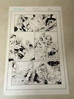 THE FIRST #27 original art CROSSGEN, 2003, COOL DETAILED PANEL  PAGE!!!