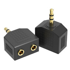 3.5mm Audio Double Jack Plug Headphone Y Splitter 1 Male to 2 Female·AUX Adapter