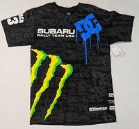 DC Shoes Monster Energy Subaru Block 43 Short Sleeve Shirt Men's Men's Small NWT