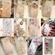 3D Handmade Bling Diamonds Rhinestone Crystal Hard Clear Phone Case Cover Luxury