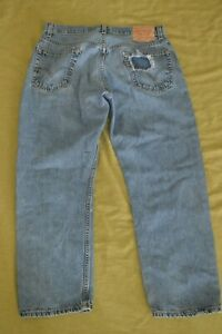 Levi's 505 Blue Denim Regular Fit Jeans 34x29