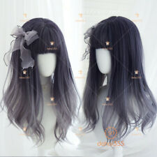 Purple Black Gradient Sweet Harajuku Kawaii Lolita Daily Straight Hair Wig #I17
