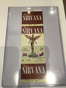 1 Original Full Mint 1994 Paris Nirvana Concert Ticket Kurt Cobain - Nice!