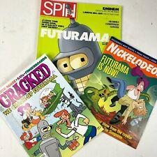 Futurama 3 Vintage 1999 Magazines Comics Cracked Nickelodeon Spin Groening New