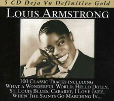 LOUIS ARMSTRONG - 100 CLASSIC TRACKS  - BOX-SET 5 CD NEU
