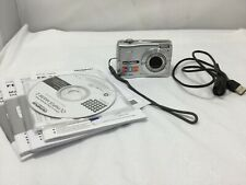 Olympus FE-310 8MP Digital Camera with 5x Optical Zoom, Silver, Used Tested