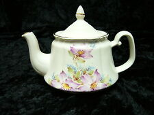 China Teapot (863) Tea Pot Cream with Purple Flowers Price Kensington