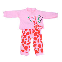 Cute Giraffe Printed Clothes Outfit for 18'' AG American Doll Dolls Dress Up