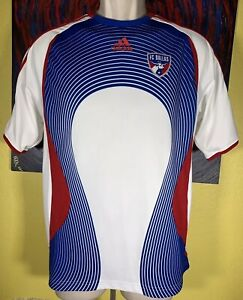 Youth Adidas ClimaCool MLS FC Dallas Soccer Jersey Size XL White / Blue / Red
