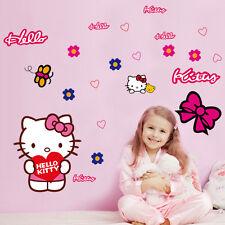 Hello Kitty adorable Niñas-Transferencia De Vinilo Pared Adhesivo Decoración Impresa