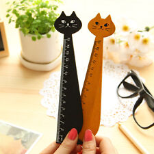 2PCS Cute Cat Animal Face Stationery Wood Ruler Sewing Ruler,PRO