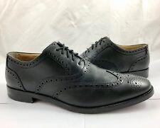 Cole Haan Men's Size 10.5 Cambridge Leather Wingtip Oxfords Shoes Black Reg $260